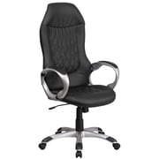 High Black Vinyl Executive Swivel Office Chair [CH-CX0906H-BK-GG]