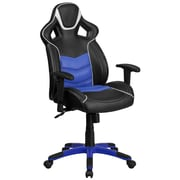 High Back Monterey Blue Vinyl Executive Swivel Office Chair with Inner-Coil Spring Comfort Seat and Blue Base [CP-B331A01-BL-GG]