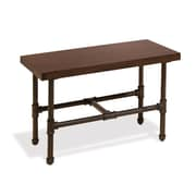 Econoco PSDTSET, Pipeline Small Display Table with Top,  Dark Brown Wood Grained Melamine, Each