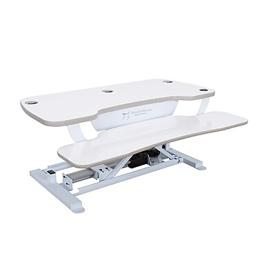 Versadesk 36 Quot X 24 Quot White Electric Adjustable Sit Stand
