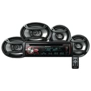 "PIONEER DXT-X2969UI Single-DIN In-Dash CD Receiver with Bluetooth®, Two 6.5"" Speakers & Two 6"" x 9"" Speakers"