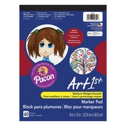 "Pacon® Art1st® Marker Pad, 9""x12"", White, 6 Packs of 40 Sheets Per Pack (PAC4622)"