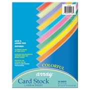 "Pacon® Card Stock, 8.5""x11"", Colorful Assorted, 3 Packs of 50 Sheets Per Pack (PAC101168)"