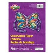 """Pacon® Little Fingers® Construction Paper, 9""""x12"""", Assorted Clours, 6 Packs of 200 Sheets Per Pack (PAC6534)"""
