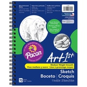 """Pacon® Art1st® Sketch Diary W/Pocket, 8.5""""x11"""", White, 3 Packs of 70 Sheets Per Pack (PAC4799)"""
