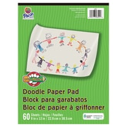 "Pacon® Little Fingers® Doodle Pad, 9""x12"", White, 12 Packs of 60 Sheets Per Pack (PAC3421)"