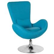 Aqua Fabric Egg Series Reception-Lounge-Side Chair (CH-162430-AQ-FAB-GG)