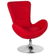 Red Fabric Egg Series Reception-Lounge-Side Chair (CH-162430-RED-FAB-GG)