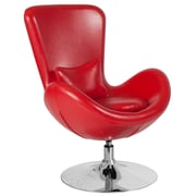 Red Leather Egg Series Reception-Lounge-Side Chair (CH-162430-RED-LEA-GG)