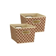 Household Essentials Small Tapered Bins, Mocha, 2 Piece Set