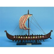 Handcrafted Model Ships Viking Drakkar 14 In. Decorative Tall Model Ship (Hdfm2103)
