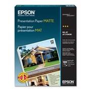 Epson Matte Presentation Paper, 27 Lbs., Matte, 13 X 19, 100 Sheets Per Pack (Azerty16841)