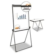 Universal Foldable Double Sided Dry Erase Easel, 28.5 X 37.5, White-Black (Azerty16017)