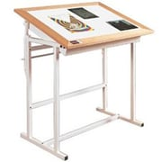 Alvin Tc3648K Oak Trimed Adjustable Steel Light Table (Alv7164)