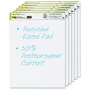 Post-It 25 X 30 In. Self-Stick Easel Pad, Unruled, White Recycled, Pack - 6 (Sspc57835)