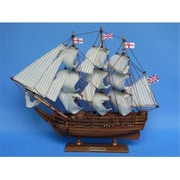 Handcrafted Model Ships Darwins Hms Beagle 14 In. Decorative Tall Model Ship (Hdfm2175)