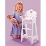 Badger Basket White Doll High Chair With Plate Bib And Spoon (Bgbk082)