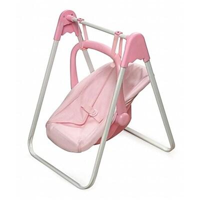 Badger Basket 20 Doll Swing And Carrier - Pink Gingham (Bgbk135)