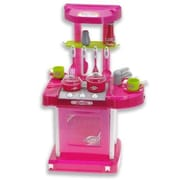 Az Import & Trading 26'' Portable Kitchen Appliance Oven Cooking Play Set W/ Lights & Sound (Pink) Tf858 (Azimt495)