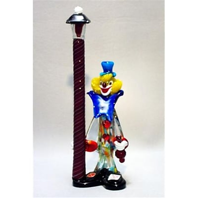 Belco Murano Glass Clown With Lamp Post (Blc023) 2489106