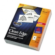 Avery Clean Edge Laser Business Cards White 2 X 3-1/2 10/Sheet 2 000 Cards Per Box (Azrave5870)