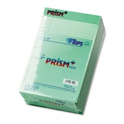 Tops Prism Plus Colored Jr. Legal Pads 5 X 8 Green 50-Sheet Pads 12 Pack (Azrtop63090)