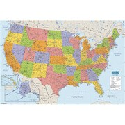 House Of Doolittle Us & World Maps Laminated Us 50X33 (Learn0140)