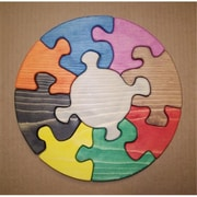 The Puzzle-Man Toys Wooden Educational Jig Saw Puzzle - 11 In. Circle (Crwp091)
