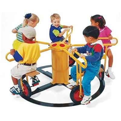 Wholesale Playgrounds Merry Go Circel Cycle 4 Seat-Yellow Direct Bury Outdoor Commercial Playground Playset (Wspg054) 2490815