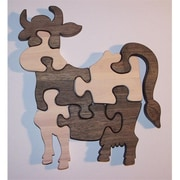 The Puzzle-Man Toys Wooden Educational Jig Saw Puzzle - Cow (Crwp065)