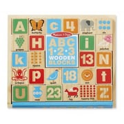 Melissa And Doug Abc & 123 Wooden Blocks (Mlssand1419)