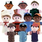 Get Ready Kids Multicultural Community Helper Puppets, Set Of 10 (Gtrdy317)