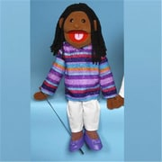 Sunny Toys 28 In. Ethnic Girl In While Purple, Full Body Puppet (Snty240)