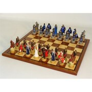 Royal Chess King Arthur Sapele Maple Set, Chess Sets Resin (Wwi1949) by