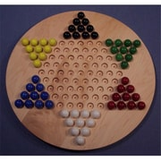 The Puzzle-Man Toys Wooden Marble Game Board - Chinese Checkers Oiled 18 In. Circle - Hard Maple (Crwp375)