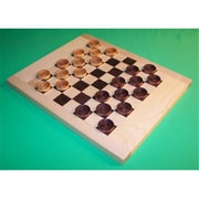 The Puzzle-Man Toys Wooden Game Board - Maple And Walnut Checkerboard With 1-1/4 In. Checkers (Crwp243)