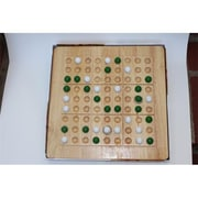 Mad Cave Games Tic-Tac-Ku Solid Wood Game Green And White (Mdcv007)