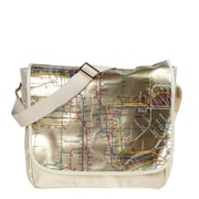 "New York City Subwayline Map 13.9"" PVC Messenger Bag"