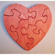 THE PUZZLE-MAN TOYS Wooden Educational Jig Saw Puzzle - Large Heart (CRWP073)