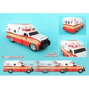 New York City Motorized Vehicles Fdny Motorized Ambulance with Light and Sound (DARON9098)