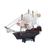 Handcrafted Model Ships Santa Maria 7 in. Decorative Tall Model Ship (HDFM1697)