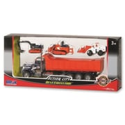 Daron Worldwide Trading Action City Dump Truck with 3 Vehicles (DARON4049)
