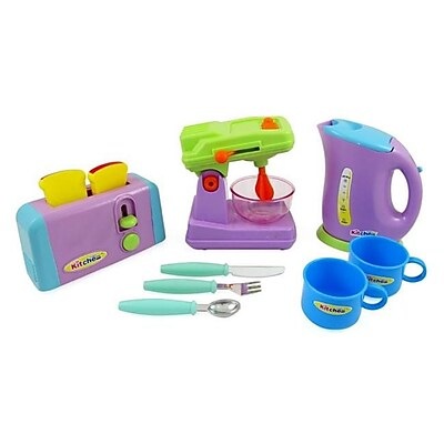 AZ IMPORT & TRADING Kitchen Appliances Toy for kids - Mixer, Toaster, Kettle, Cups & Utensils Set PS414 (AZIMT477) 2512527