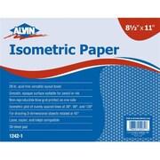 Alvin Isometric Paper 8.5x11-100shts (ALV3476)