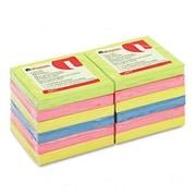 Universal Fan-Folded Pop-Up Notes 3 x 3 Four Neon Colors 12 100-Sheet Pads/pk (AZRUNV35617)