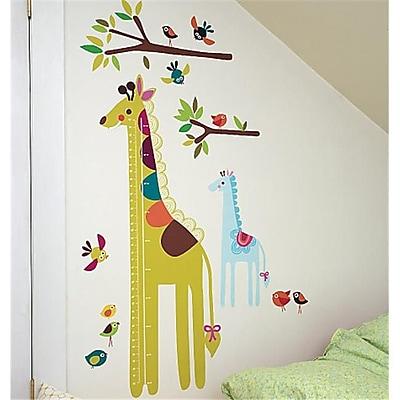 Wallies Wallcoverings Peel & Stick Wall Play Giraffe Growth Chart (WLWC054) 2513566