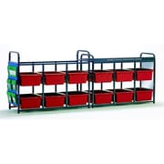 Copernicus Educational Products Leveled Literacy System - Lesson Storage Organizer with Red Tubs (CPRNRTL0561)