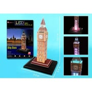 3D Puzzles Big Ben 3D Puzzle with Base and Lights - 28 Pieces (DARON8823)