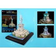 3D Puzzles Statue of Liberty 3D Puzzle with Base and Lights - 37 Pieces (DARON8826)
