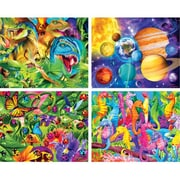 Masterpieces Glow In The Dark 4-Pack Puzzle - 100 Piece (RTL236361)